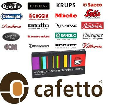 CAFETTO CINO CLEANO CLEANING TABLETS Espresso Coffee Machine Cleaner 16 Tablet