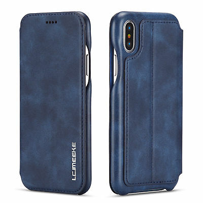 Luxury Magnetic Flip Leather Wallet Stand Case Cover For iPhone x 8 7 6 6+
