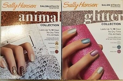 Sally Hansen Salon Effects Real Nail Polish Strips 3 Sets Per Collection Choose