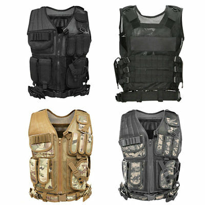 Adjustable Tactical Military Airsoft Molle Combat Army Plate Carrier Vest 2018