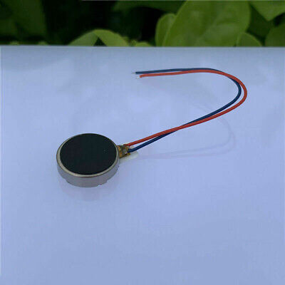 DC 3V 3.7V 8mm Round Pager Cell Phone Coin Flat Vibrating Vibration DC Motor DIY