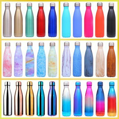 350-1000ML Water Flask Stainless Steel Double Wall Vacuum Insulated Bottle Drink