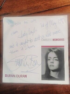 "Signed  duran duran record, early 12"" record."