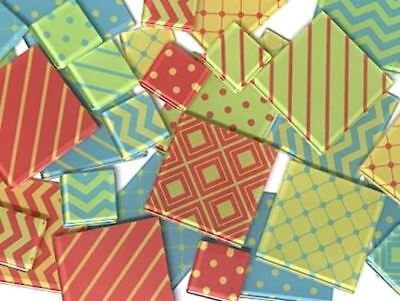 Bright Patterned Handmade Mosaic Tile Set | Mosaic Art Craft Supplies