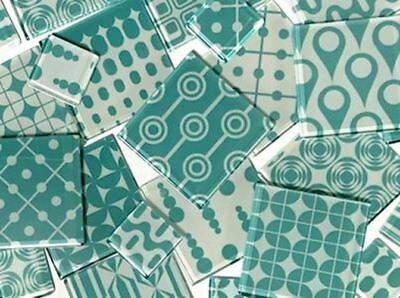 Turquoise Delight Themed Handmade Mosaic Tile Set | Mosaic Tile Supplies Craft