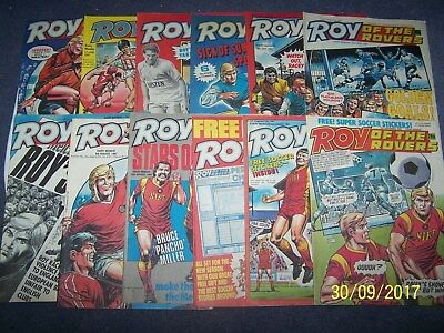 12 Roy of the Rovers Comics 20, 27/6, 4, 11, 18, 25/7 1, 8, 15, 22, 29/8, 5/9/87