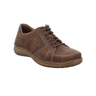 Josef Seibel Anvers 59 Brown Castagne Mens Real Nubuck Leather Lace Up Shoes