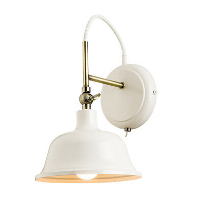 Endon Laughton Steel Semi Flush E14 Dimmable Toggle Switch Wall Light