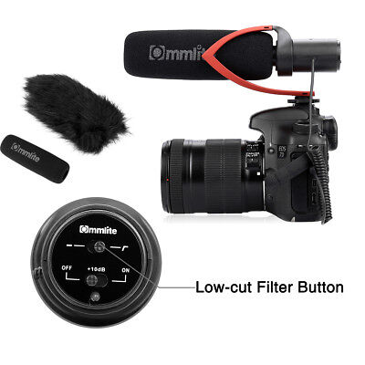 PRO Condenser Shotgun Video Microphone 3.5mm MIC for Nikon Canon DSLR Camera UK