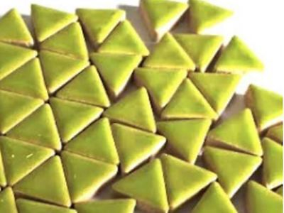 Dark Green Ceramic Triangle - Mosaic Tiles Supplies Art Craft