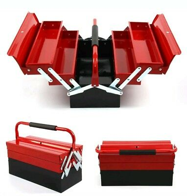 Strong 3 Tier 5 Tray Heavy Duty Professional METAL Storage Cantilever TOOL BOX