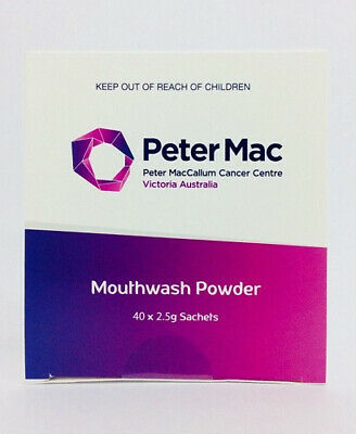 New Peter Mac Mouthwash Powder 40 x 2.5g Sachets for Oral Hygiene