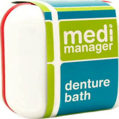 Medi Manager Denture Bath with Rinsing Basket Retainers Mouthguards