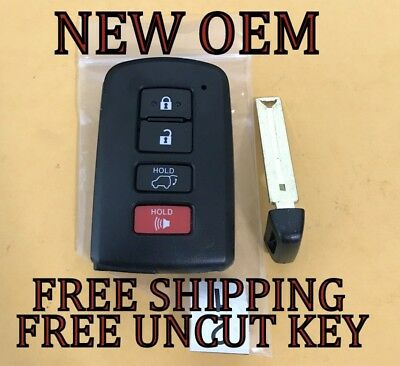 New Oem 14-18 Toyota Highlander Proximity Smart Keyless Remote Fob 89904-0E121