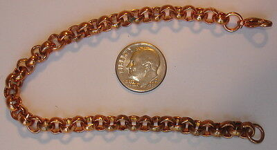 """2 New Vintage Heavy Solid Copper 9"""" Link Anklets ~ Arthritis ~ USA ~ CC-99"""