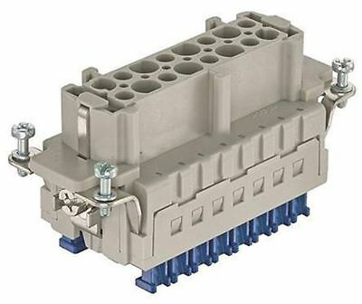 Han ES Press Series size 16 B Panel Mount Connector Insert, Female, 16 Way, 16A,