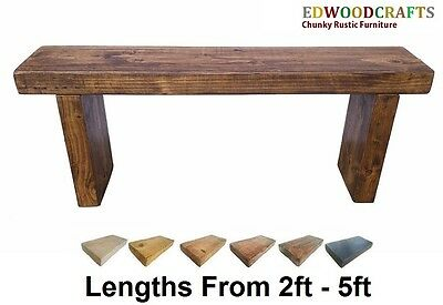 Garden Bench Seat Indoor / Outdoor Seating Rustic Wooden Solid Pine 9X3.