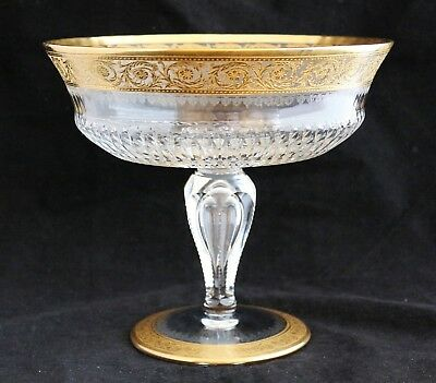 Magnificent Saint St. Louis Crystal Thistle Lg Compote Footed Centerpiece Bowl