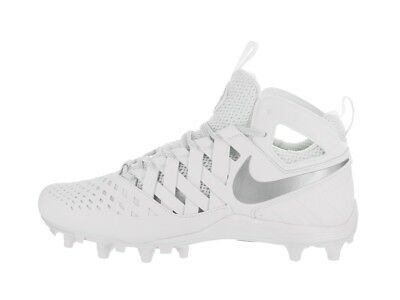 Nike Huarache V Lacrosse Cleats White/Grey Size 9.5 New