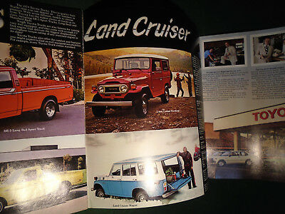 1978 TOYOTA FULL LINE 12 page BROCHURE - NOS - FREE POSTAGE  (10278)
