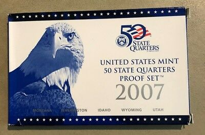 2007 S  United States Mint 50 State Quarters Proof Set