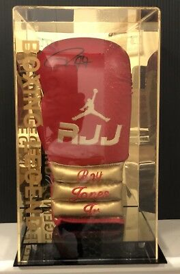 Roy Jones Jr Hand Signed Boxing Glove In Display Case 9x World Champion RARE COA