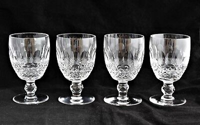 """VINTAGE Set 4 Waterford Ireland Crystal COLLEEN Water Goblets 5 1/8"""" 9 oz"""