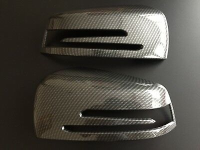 Carbon Wing Mirror Covers Fits Mercedes Benz A B C E S Cls W218 Cls W204 C204