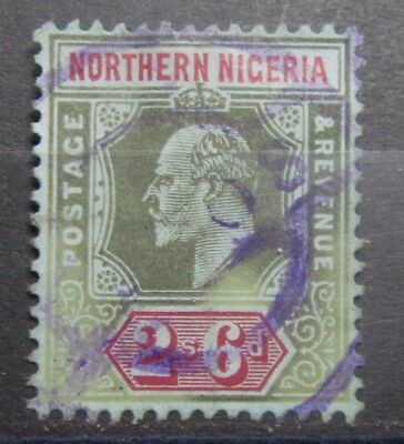 NOTHERN NIGERIA British Colonies Old Stamp -Multi CA Wmk - Used  -  r33e4546b