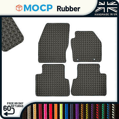 Custom Rubber Car Mats to fit Ford C-Max Round Clips 2013-2015