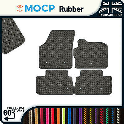LAND ROVER FREELANDER 1 1997-06 TAILORED RUBBER CAR MATS /& SILVER TRIM 2491