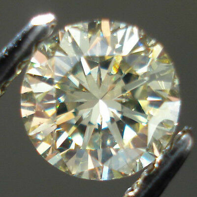 Fiery 6.5 MM 0.88 Carat Off White Round Brilliant Cut Loose Moissanite For Ring
