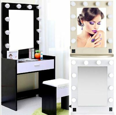 New & Boxed Wall Mounted Large Vanity Mirror with Light Hollywood Makeup Mirror