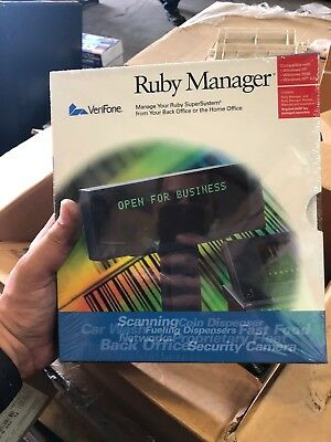 *NEW-STILL IN BOX* VERIFONE RUBY MANAGER v.1.43/RM REMOTE v.1.53 P040-10-100-MK