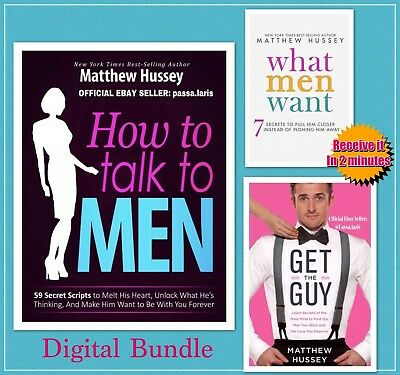 Matthew Hussey - How To Talk To Men - Get The Guy - What Men Want -eBooks 3 in1