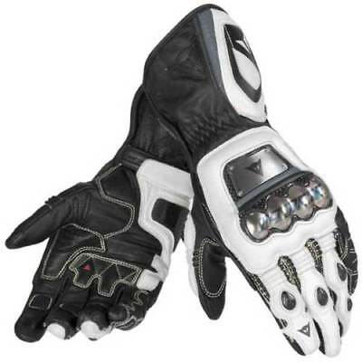 Dainese Full Metal D1 Leather Motorcycle Motorbike Race Gloves Black NEW