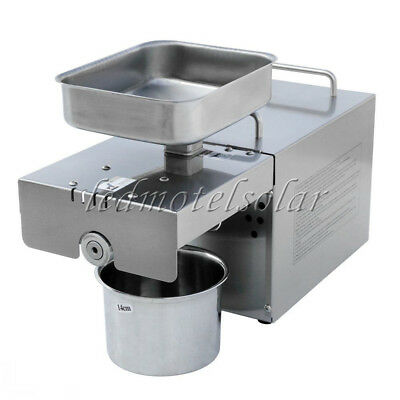 220V Stainless Automatic Oil Press Machine Nut Seed Oil Presser For Home 350W