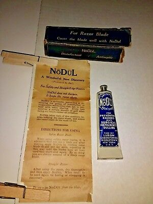 Antique NoDul Disinfectant Antiseptic For Razor Blades~Ludon Lab Ny~Org. Box