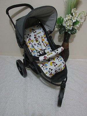 Handmade pram liner set-Mickey mouse & friends-100% cotton,universal*Funky babyz