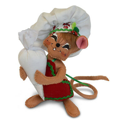 Annalee Dolls 6in 2018 Christmas Chef Mouse Plush New with Tags