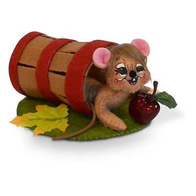 Annalee Dolls 3in 2018 Harvest Apple Picking Mouse Plush New with Tags