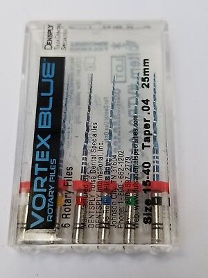 Tulsa Vortex Blue Rotery Files Assorted 15-40 Taper 04, 25 mm.