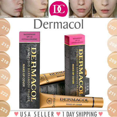 Dermacol High Cover Make-up Foundation Waterproof SPF30 Hypoallergenic Makeup