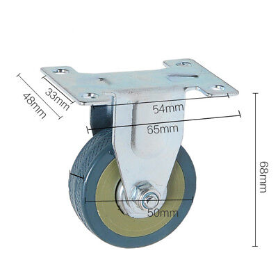 "2"" Swivel Plate Casters Wheels PVC Steel Zinc-plated Strong Bearing Capacity"