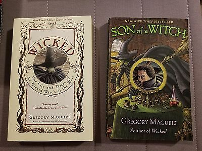 Lot of 2 Gregory Maguire Books Wicked & Son of A Witch Bestsellers Wicked Years