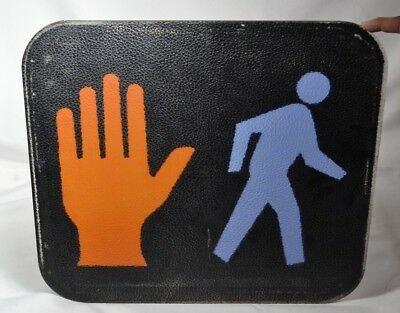 "Walk Don't Walk Sign Pedestrian Figure Traffic Light Part Plastic 16 "" x 17 3/4"""