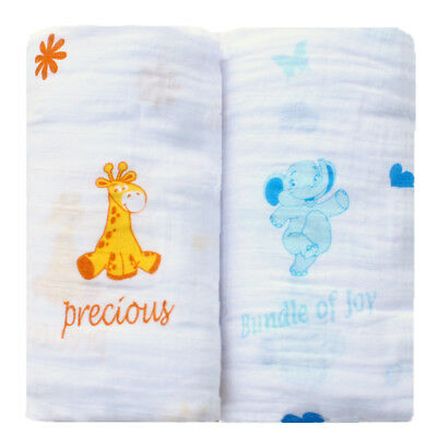 Organic Cotton Muslin Baby Blankets 2-Pack - By Bayboo