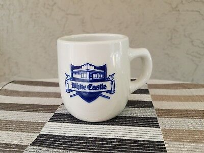 White Castle VINTAGE Mug / Ashtray Bottom - Rare Blue Print