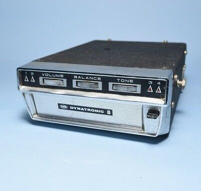 Vintage Dynatronic 8 Stereo Chrome Car Auto 8 Track Player
