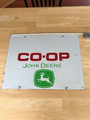 "John Deere Co-Op Vintage Original Metal Sign 21 1/2"" X 16 1/2"" Nice"